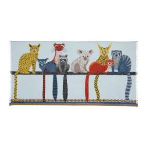 Inouitoosh-ss20-echarpe-coton-animaux-ami-celadon