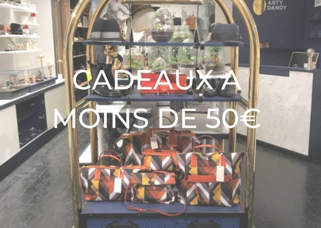 CADEAUX A MOINS DE 50€